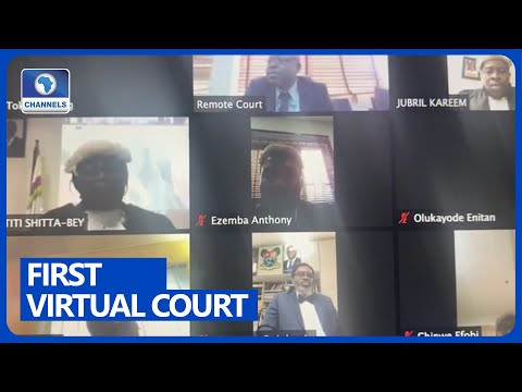 Lagos Judiciary Holds First Virtual Court Sitting