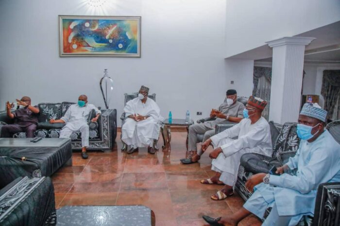 Lawan Leads Senate Delegation On Solidarity Visit To Kalu After Release From Kuje