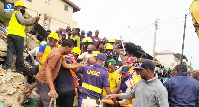 Three Dead, Nine Rescued In Lagos Building Collapse