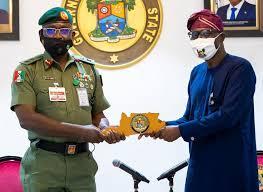 Sanwo-Olu Receives GOC 81 Division, Seeks Synergy among Security Agencies