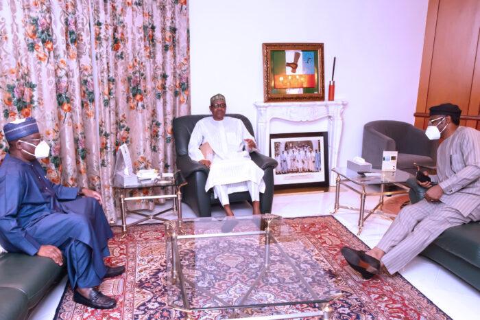 Buhari, Lawan, Gbajabiamila Meet over #EndSARS Protest