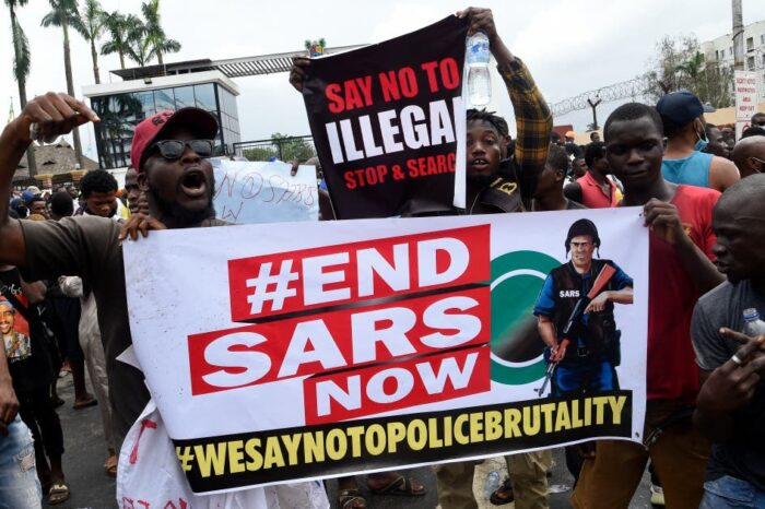 ENDSARS: Orile-Iganmu Police Station set on fire by hoodlums in the protest