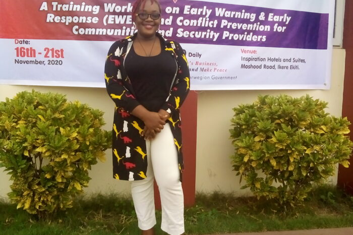 A TRAINING WORKSHOP ON EARLY WARMING AND EARLY RESPONSE (EWER) AND CONFLICT PREVENTION FRO COMMUNITIES AND SECURITY PROVIDERS