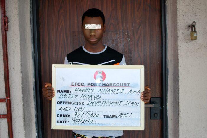 EFCC Arrests Varsity Student for N850,000 Investment  Scam