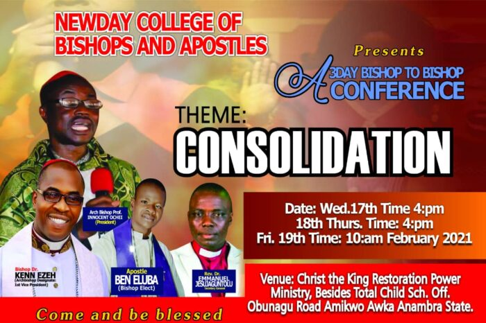Bible College Holds Bishop-to-Bishop Conference Feb 17 -19 in Anambra